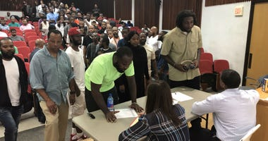 Anywhere from 300 to 500 ex-offenders attended Temple University's open house for a six-week job training program specifically for ex-offenders, which provides them with a rare opportunity for a second chance.
