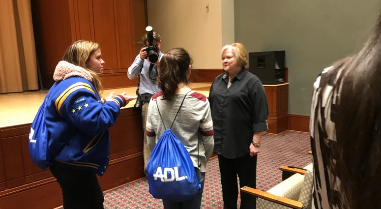 Judy Shepard at Anti-Defamation League youth conference in Philadelphia.