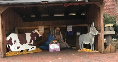 Nativity display at Old First Reformed United Church of Christ.