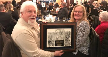 John and Joan Renshaw were recognized at the Fraternal Order of Police Awards after it was discovered they secretly maintained the memorial of Officer Joseph Friel for ten years.
