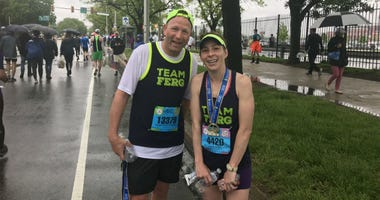 John and Karen Gibble at the Broad Street Run.