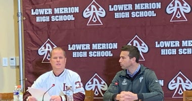 Lower Merion head basketball coach Gregg Downer.