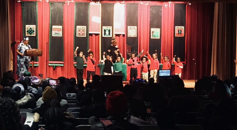 A holiday tradition at the Free Library of Philadelphia continues for the first day of Kwanzaa.