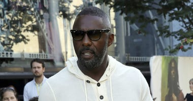 Idris Elba is shown at the premiere of the film 'Yardie', in London, Tuesday, Aug. 21, 2018.