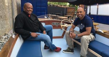 Camden celebrity chef Aaron McCargo Jr. and Camden Arts Yard developer Damon Pennington.