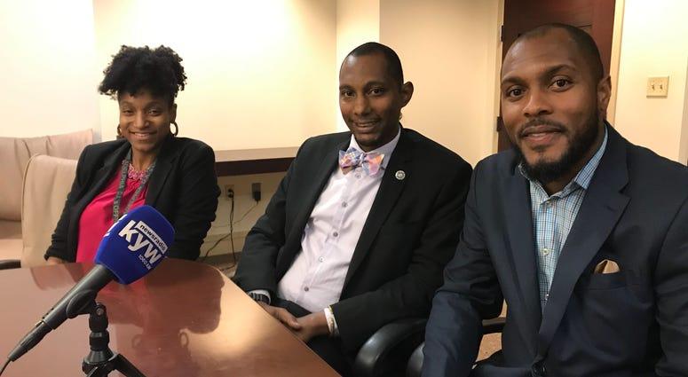 From left: Keziah Cameron, Mike Lee, G. Lamar Stewart