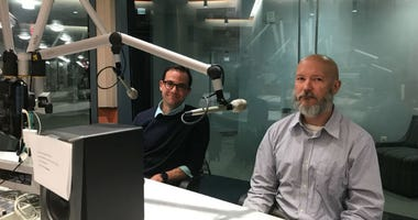 Nick Falco and Matt McAvoy at a KYW Newsradio studio.