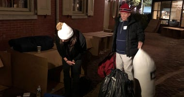 Charlie Manuel sleeps on the streets to raise money for homeless youth.