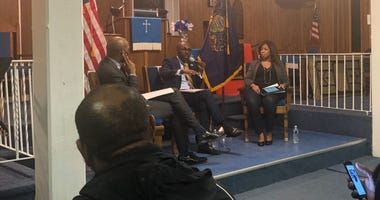 Paris Dennard was among the speakers at a Black Voters for Trump event at First Immanuel Baptist Church in North Philadelphia.