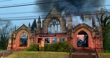 The old Third Presbyterian Church was ravaged by an early-morning fire on Thursday, May 28, 2020.