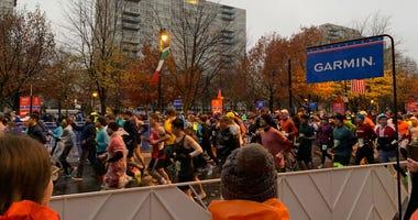 Runners start down the Parkway to kick off the 26.2-mile 2019 Philadelphia Marathon