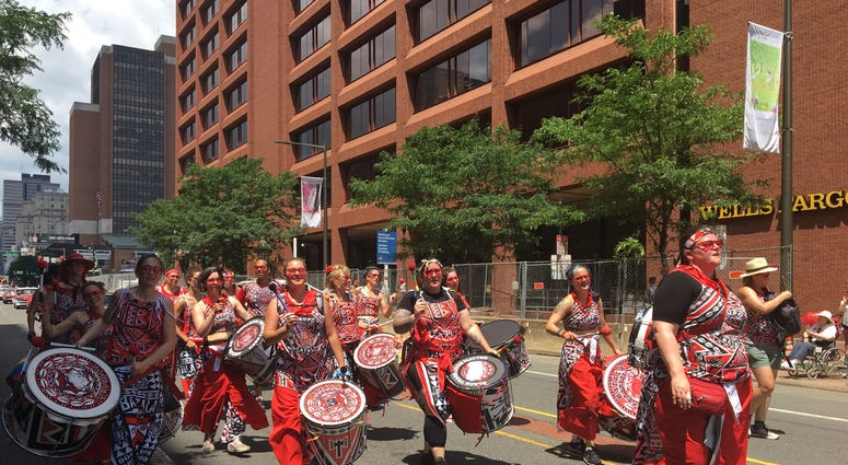 Drummers in the 2019 Independence Day Parade.