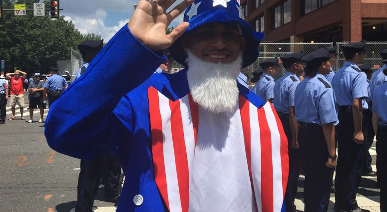 This man is wearing his patriotism literally at the 2019 Independence Day Parade.