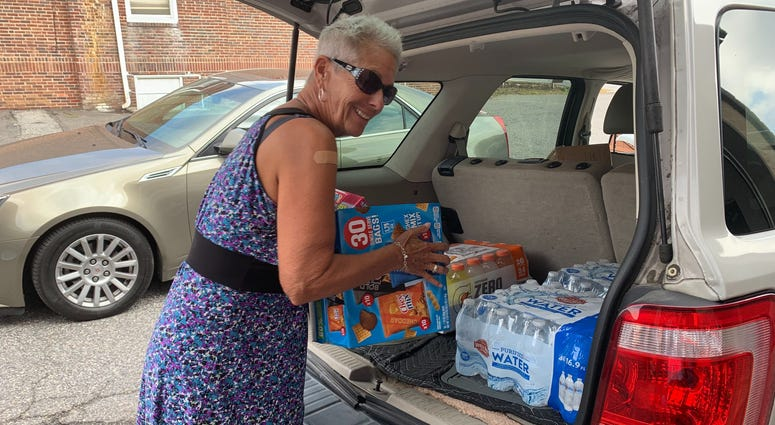 Hurricane relief supplies