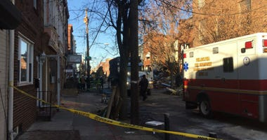 Photo of the day after a massive South Philly row home explosion.