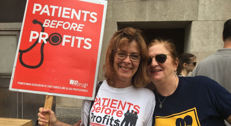 Patty Eakin, left, is political consultant for the Pennsylvania Association of School Nurses and Practitioners.