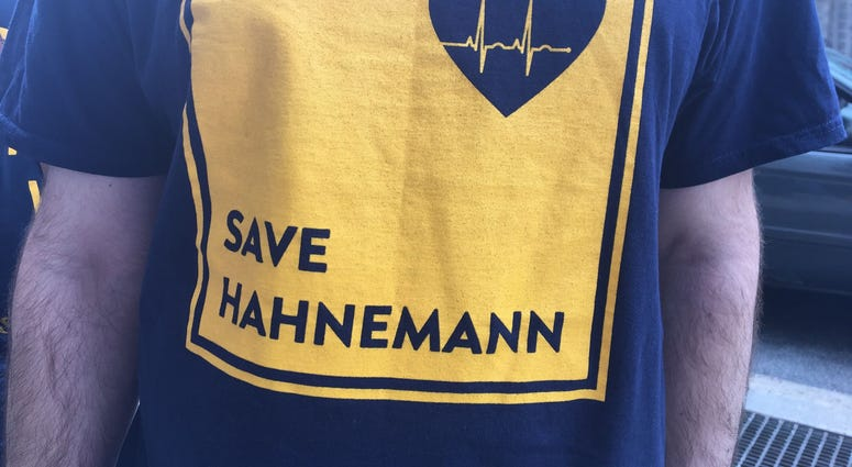 Thousands of people protested in front of Hahnemann University Hospital on Thursday afternoon to try and save the institution from what they believe is a real-estate deal.