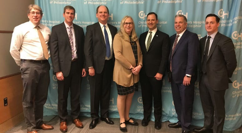 Pennsylvania's secretary of health, Dr. Rachel Levine (C), was in Philadelphia Wednesday afternoon, gathering information about child and maternal health.
