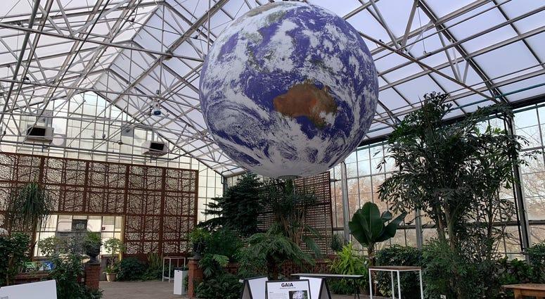 An installation at The Fairmount Park Horticultural Center.