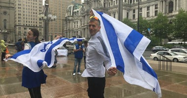 Philadelphia's Jewish and Israeli communities celebrated Israel's 71st Independence Day at a lunchtime party in Center City Thursday.