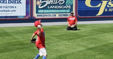 Reading Fightin Phils Father's Day catch