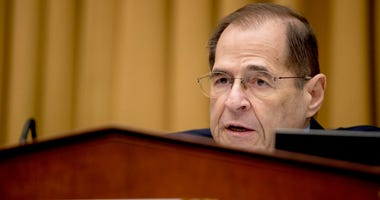 Judiciary Committee Chairman Jerrold Nadler, D-N.Y., questions Acting Attorney General Matthew Whitaker as he appears before the House Judiciary Committee on Capitol Hill, in Washington.