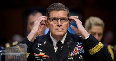 U.S. Central Command Commander Gen. Joseph Votel testifies before a Senate Armed Services Committee hearing on Capitol Hill, Tuesday, Feb. 5, 2019, in Washington.