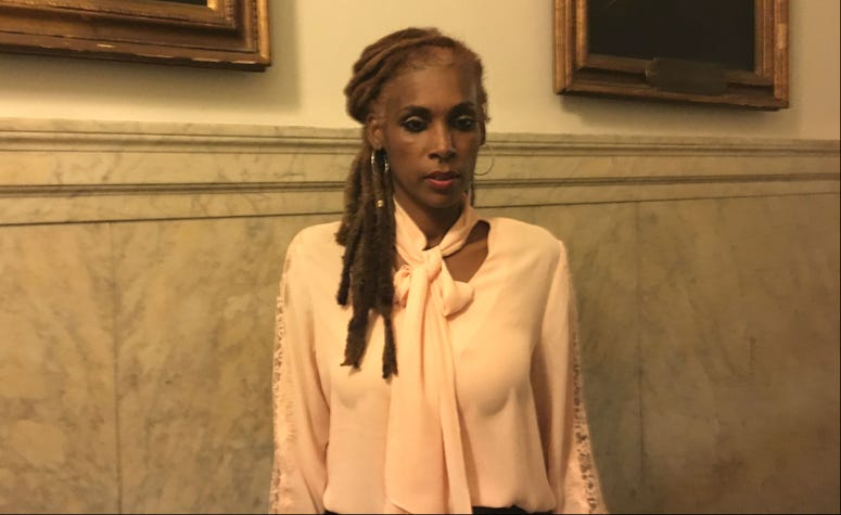 Kenyette Barnes flew from Atlanta to frigid Philadelphia to testify in support of the City Council's resolution to ban R. Kelly from performing in the city.