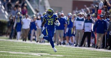 Delaware redshirt freshman running back Will Knight