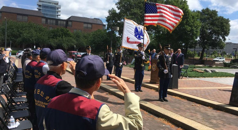 Philadelphia's Korean community gathered at a memorial commemorating the 68th anniversary of the Korean War.