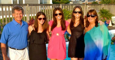 The Miller family, from left: George, Kristi, Tara, Lauren, Debbie