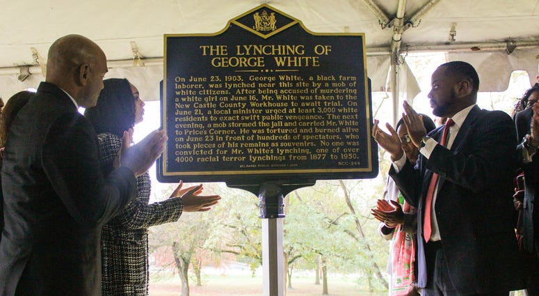 Historical marker of George White unveiled