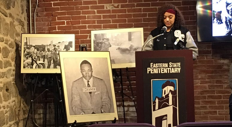 "Community leaders, students and professional actors read excerpts from King's landmark 1963 texts ""Letters from Birmingham Jail."""