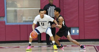 Senior forward DeVaughn Mallory leads Jefferson University in scoring at 18.2 points per game.