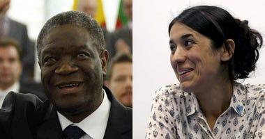 Doctor Denis Mukwege, from the Democratic Republic of Congo; human rights activist Nadia Murad