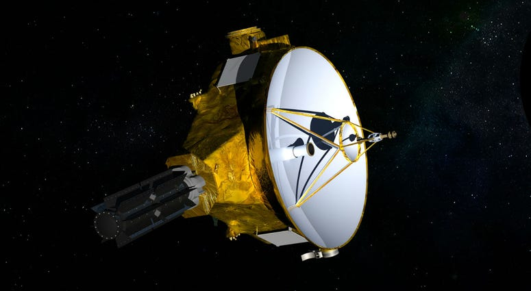 This illustration provided by NASA shows the New Horizons spacecraft. NASA launched the probe in 2006; it's about the size of a baby grand piano.