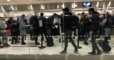 At Philadelphia International Airport, hundreds of TSA officers are working and waiting for the government shutdown to end.