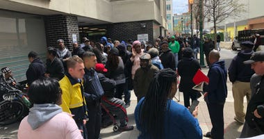 Long line for the Philadelphia Parking Authority amnesty program