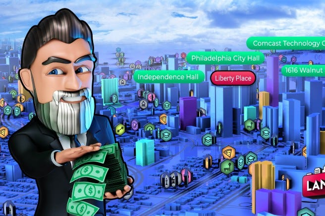 In new mobile game, players can purchase Philadelphia's landmarks as they explore the city