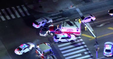 A man stole an ambulance in Northeast Philadelphia Friday night and led police on an hour-long chase, smashing into cars along the way.