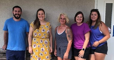 From left: Preston's Pantry Project planning committee members Brandon Foose, Lindsey Mason, Daphne Benfield, Heather Stehman and Kristin Behre.