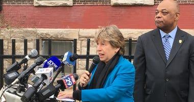 AFT President Randi Weingarten and PFT President Jerry Jordan