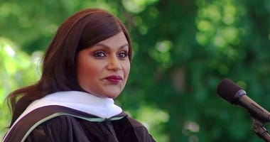 Mindy Kaling covered everything from motherhood to the chances of Donald Trump being added to Mt. Rushmore when she delivered the commencement address at her alma mater, Dartmouth College, in New Hampshire.