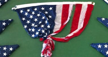 US Flag that survived Florence's winds up for auction