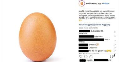 Egg dethrones Kylie Jenner