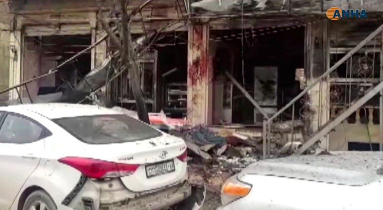Several casualities were reported after a bomb exploded in a Syrian city where US soldiers are deployed in the area, a militia controlling the city and a UK-based monitoring group said Wednesday.