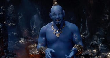 "Will Smith as the Genie in ""Aladdin."""