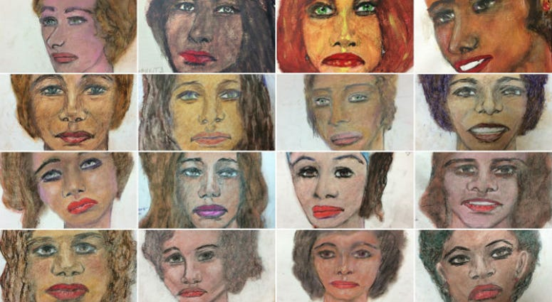The FBI released 16 images on Tuesday, drawn from memory by Samuel Little, who told authorities they are just some of the more than 90 people he killed over three decades.