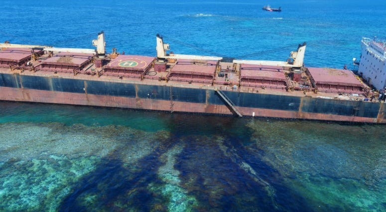 An environmental crisis is unfolding in the Solomon Islands, where a ship is leaking oil near a UNESCO World Heritage Site and threatens to spill hundreds of metric tons more, authorities say.