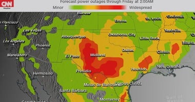 Wind gusts of 50 to 70 mph are expected Wednesday afternoon through Thursday morning across Colorado, New Mexico, Texas and Oklahoma, CNN meteorologist Monica Garrett said.